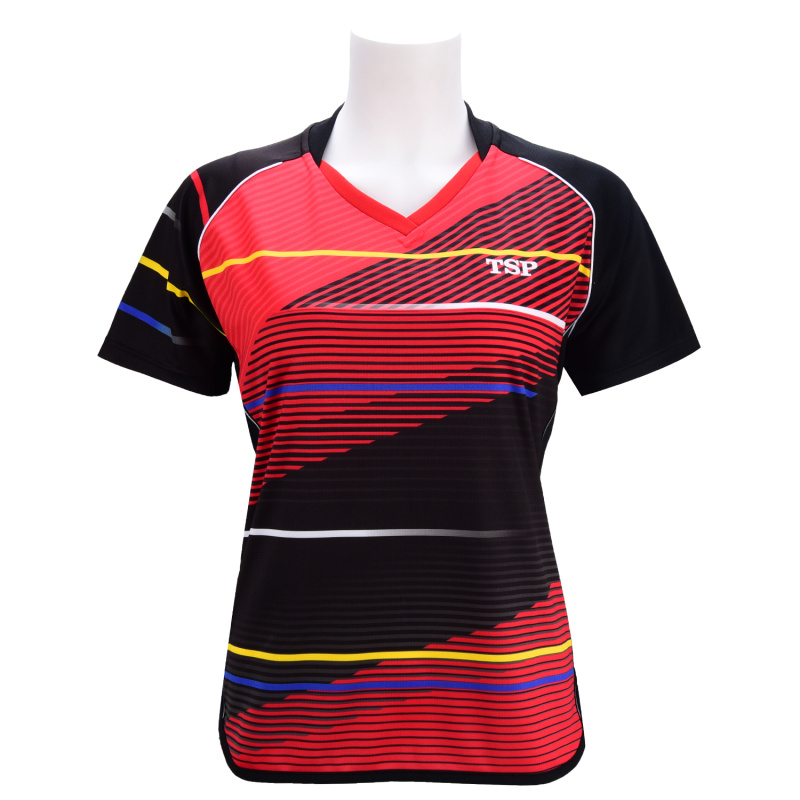 New Tsp Table Tennis Clothes Women General Table Tennis Jersey Korea National Team Short Sleeve Sports T-shirt 83113(China)