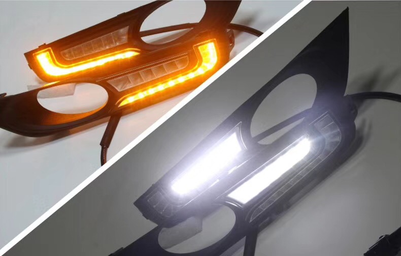 eOsuns led drl daytime running lights daylight with yellow turn signal for honda xrv ijdm amber yellow error free 2835 led 1156 p21w led bulbs for car front or rear turn signal lights daytime running lights