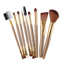 New Arrival Women 9pcs Makeup Cosmetic Brushes Eyeshadow Eye Shadow Foundation B