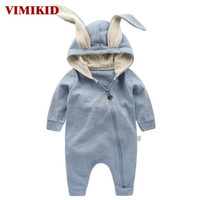 VIMIKID Newborn Baby Girls Boys Clothing Romper Cotton Long Sleeve Jumpsuit Playsuit Bunny Outfits One Piecer