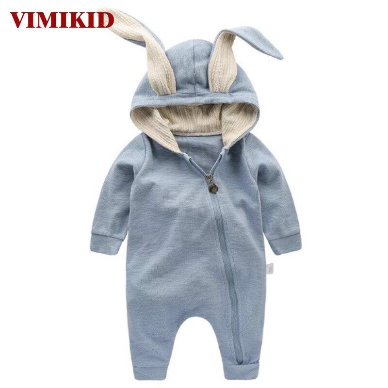 Vimikid новорожденных Одежда для маленьких мальчиков и девочек хлопковый комбинезон с длинным рукавом комбинезон, костюм кролика наряды один ... ...