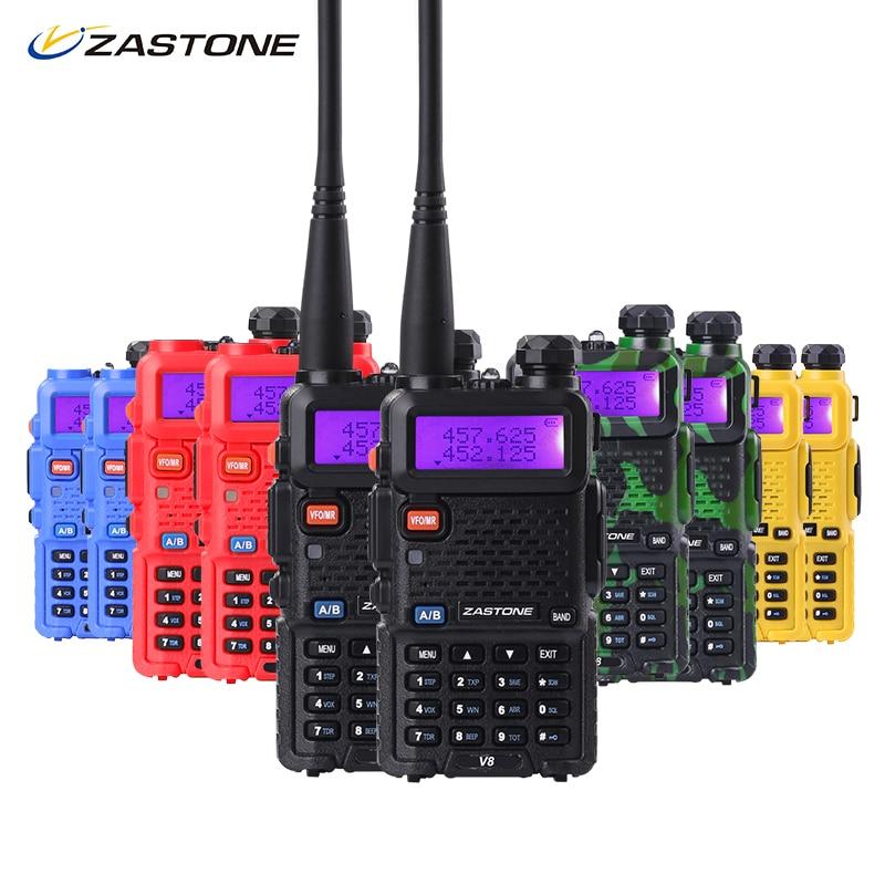 imágenes para Zastone Walkie Talkie Par V8 de Doble Banda VHF UHF de Dos Vías Ham Radio Transceptor HF igual que baofeng uv5r envío libre de rusia