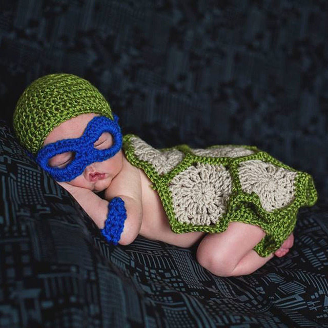 Crochet Pattern Teenage Mutant Ninja Turtle Inspired Baby Photo Prop
