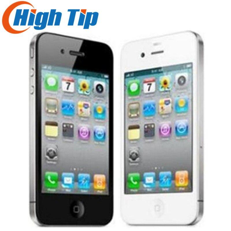 Cadeau gratuit! Apple iphone 4G 8 gb/16 gb/32 gb 100% Usine D'origine téléphone Cellulaire Déverrouillé 3.5 pouce GPS WIFI 5MP 1 année garantie