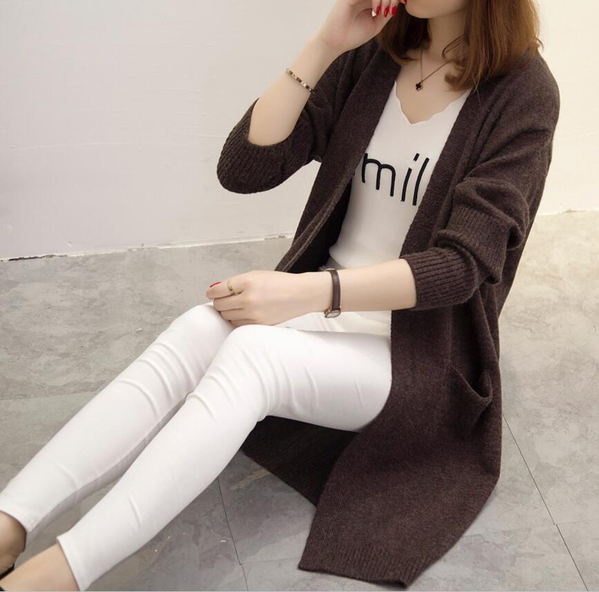 2018 Winter New Long Design Knitted Women Sweater Female Loose Shrug Ladies Fashion Casual Warm Hot Cardigan Comfortable Jumper