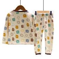 MAGGIE S WALKER Winter Baby Girls Pajamas Long Sleeve Boys Sleepwear Cotton Warm Pajamas Children Cute