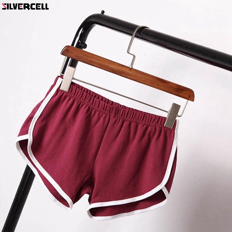 2018 Summer Street   Shorts   Women Elastic Waist   Short   Pants Women All-match Loose Solid Soft Cotton Casual   Short   Femme