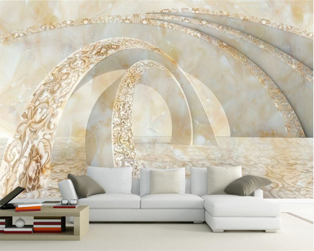Beibehang Custom 3D Photo Wallpaper Marble 3D TV Sofa Wallpaper Volume 3D Living Room Bedroom Background wallpaper for walls 3 d beibehang golden fountain fair 3d photo wallpaper mural living room bedroom corridor tv background wallpaper for walls 3 d
