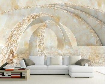 Beibehang Custom 3D Photo Wallpaper Marble 3D TV Sofa Wallpaper Volume 3D Living Room Bedroom Background wallpaper for walls 3 d