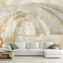 Beibehang Custom 3D Photo Wallpaper Marble 3D TV