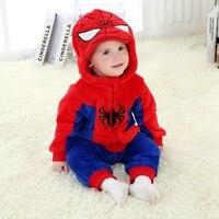 Для маленьких мальчиков с капюшоном для девочек Комбинезоны для малышек карнавальный костюм героев мультфильмов новорожденных Спортивный...