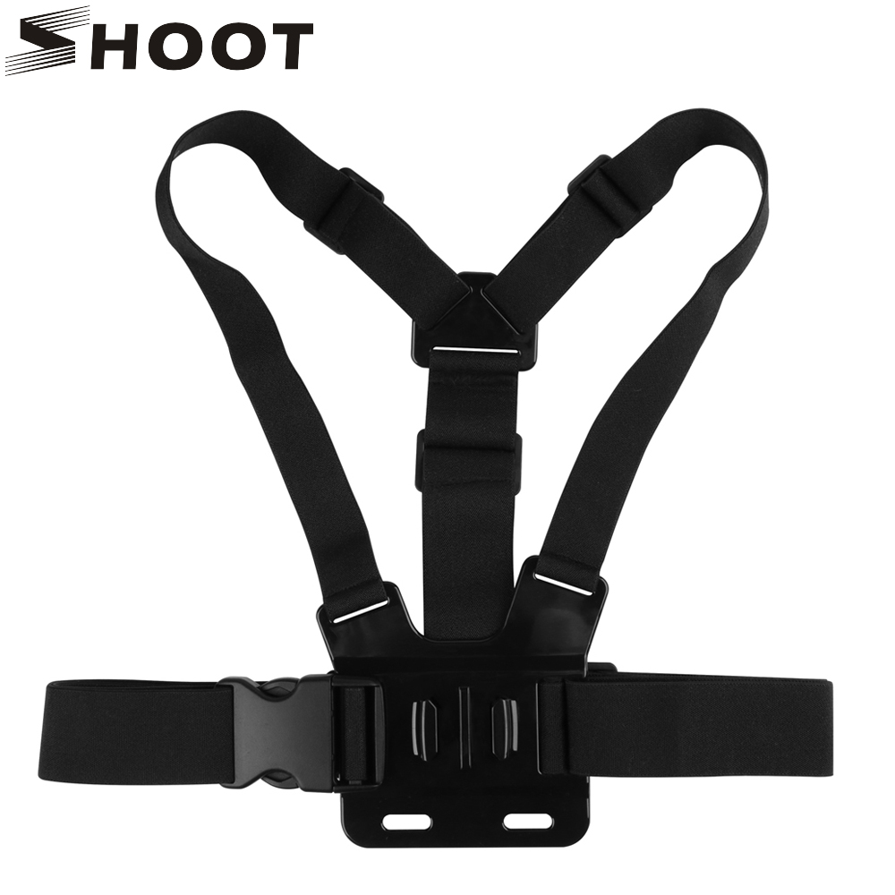 SHOOT ajustable arnés pecho correa de montaje para Gopro Hero 7 6 5 4 SJCAM SJ4000 Xiaomi Yi 4 K EKEN h9 Go Pro 7 accesorio