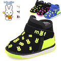 2015 Рождественский Подарок Зима детская Shoes Малыша Ботинки младенца Теплые Кролик Мальчики Девочки Хлопок 1-3 года дети Звук
