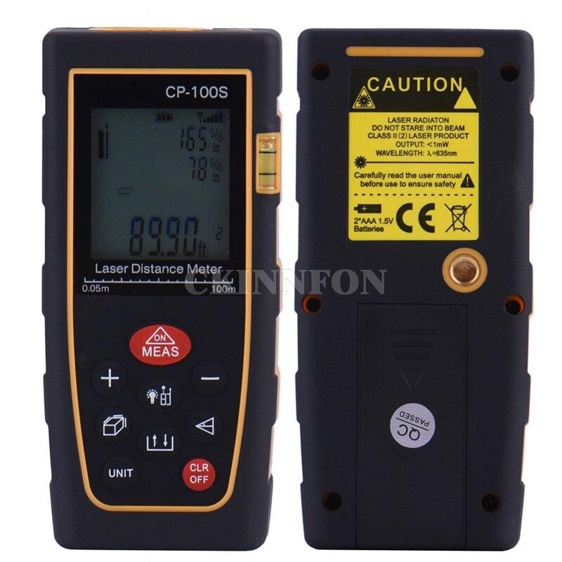 DHL 15PCS Laser Distance Meter 100m Rangefinder Trena Laser Tape Range Finder Build Measure Device Ruler