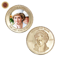 WR The Last Rose of England 24k Gold Coin Collectible The Princess Diana Challenge Metal Coins Art Ornament Worth Collection