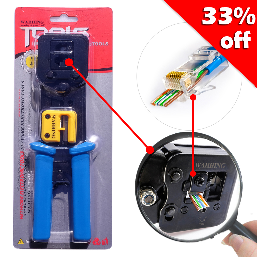 Low Price Networking Pliers Rj45 Rj11 Crimping Cable Stripper House Wiring Crimper Pressing Line Clamp