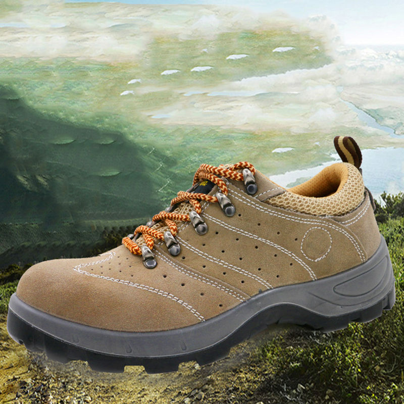 Купить с кэшбэком AC13016 Breathable Steel Toe Casual Boots Outdoor Anti-slip Steel Puncture Proof Mens Labor Insurance Puncture Proof Shoes
