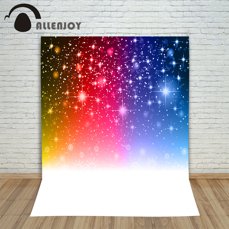 Christmas winter backdrops Red Yellow Blue Star snowflakes shiny new born photo studio photocall background pictures цена