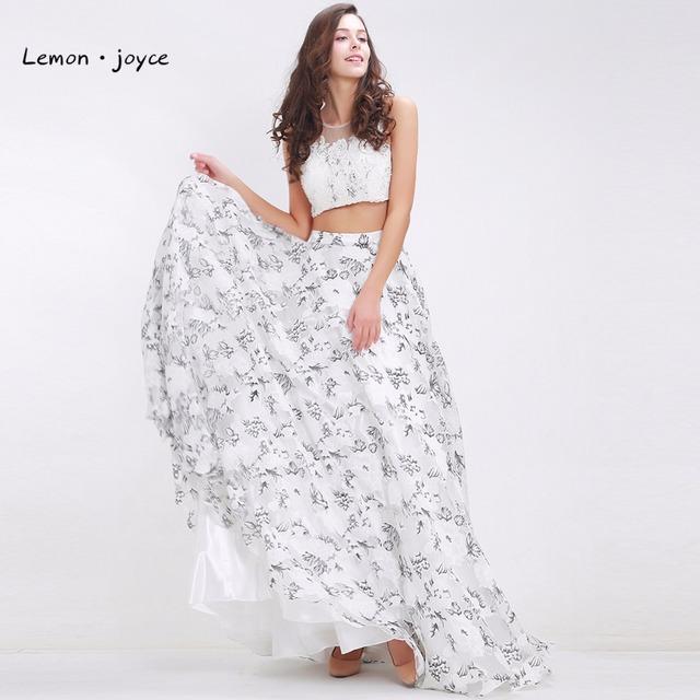 Flowers Printing Chiffon Long Dress
