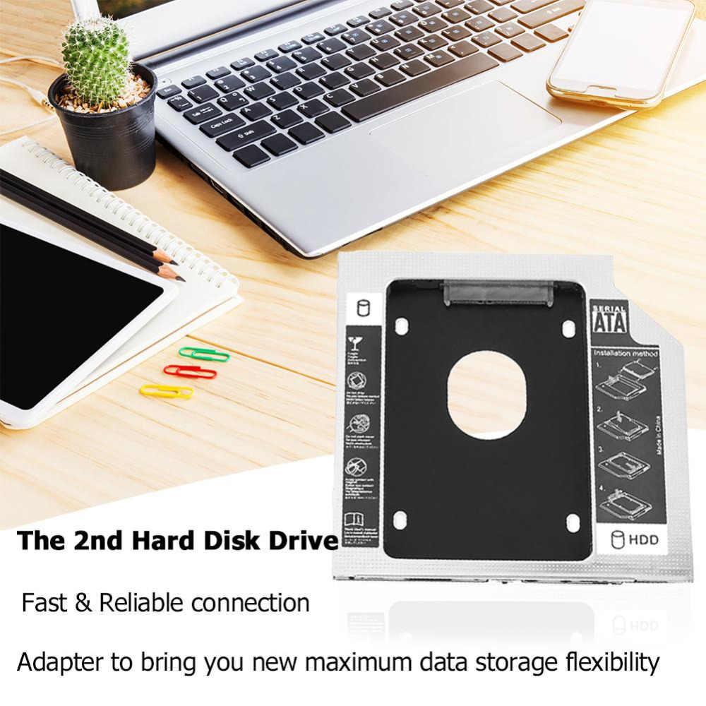 """新しいアルミ SATA 2nd HDD SSD ハードドライブのオプティカルベイキャディアダプタ iMac Pc のラップトップのためのドライバーで SuperDrive 21 """"27"""