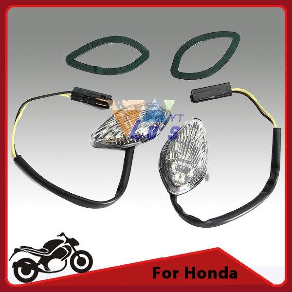 Flush Mount Motorcycle Turn Signals Light Flashers LED Indicator Blinker for Honda CB919 600 F3/F4/F4I CBR 600RR 1000RR DC12V