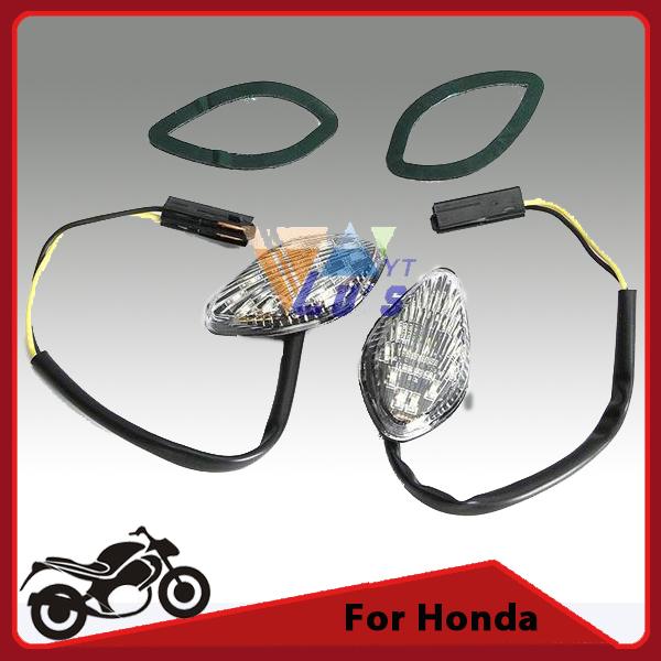 Flush mount motocicleta señales de giro luces luz led indicadora de intermitencia para honda cb919 600 f3/f4/f4i cbr 600rr 1000rr dc12v