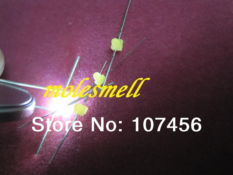 Feitos em Taiwan Pces Novo Mini Branco Difuso Led Leds Resistores Livres 100 1.5mm
