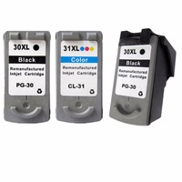 3 X Ink Cartridges For Canon PG 30 CL 31 PG 30 CL 31 PG30 CL31