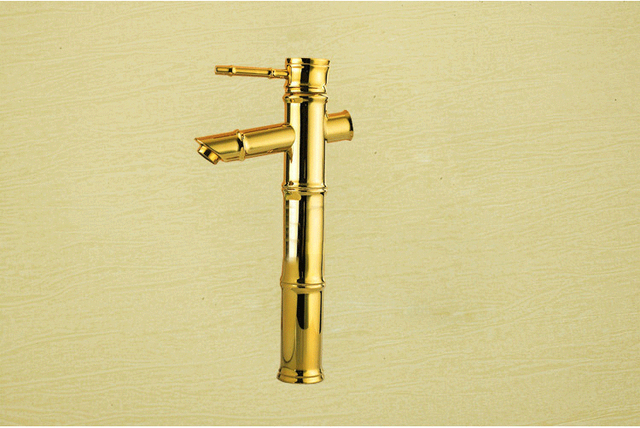 Fancy antique basin mixer tap with solid brass bathroom bamboo basin ...