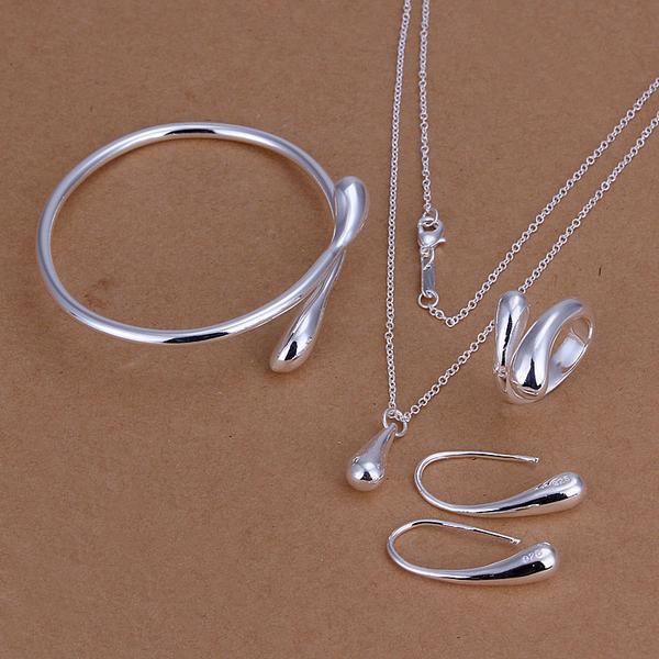 S222 Hot 925 sterling  silver Jewelry Sets Earring 172 + Ring 248 + Bangle 039 /adxaivea akkajbra
