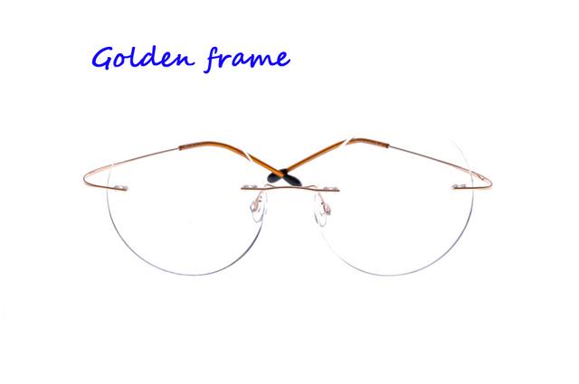 Alta calidad titanium gafas sin marco titanium gafas marco marcos de los vidrios ópticos para las mujeres y los hombres
