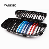 E90 ABS 2 Slit M color Bumper Grill For BMW 3 Series E90 E91 Facelift 2008 2011 ABS Front Grille Mesh 316i 318i 320i