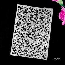 2017 New Arrival Scrapbook Snowflakes design DIY Paper cutting dies SCRAPBOOKING PLASTIC EMBOSSING FOLDER EF01