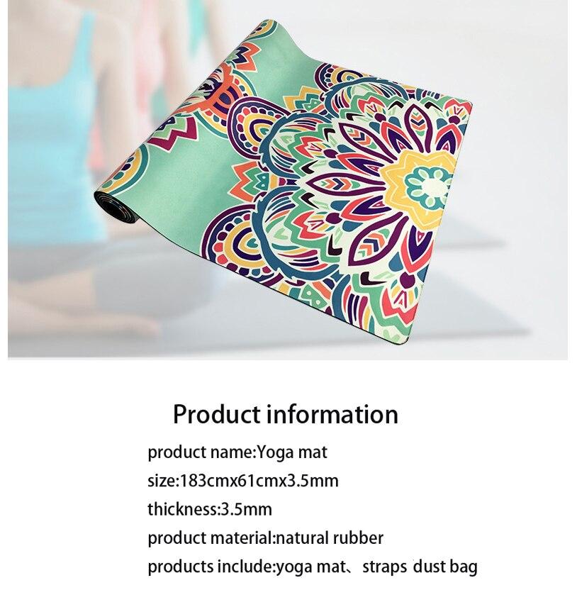 Tempo de lazer esportes yoga mat impressão