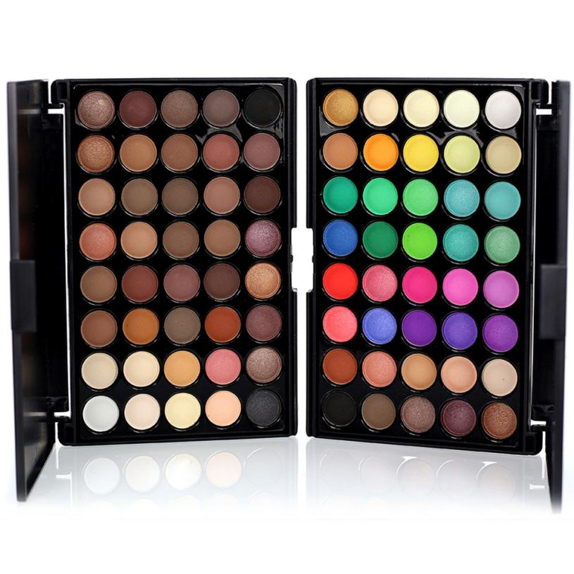 2017 2 Styles Pro Diamond Eye Shadow Palette Make Up Waterproof Shimmer Eyeshadow Pigment With Brush Makeup Cosmetics Set MY313