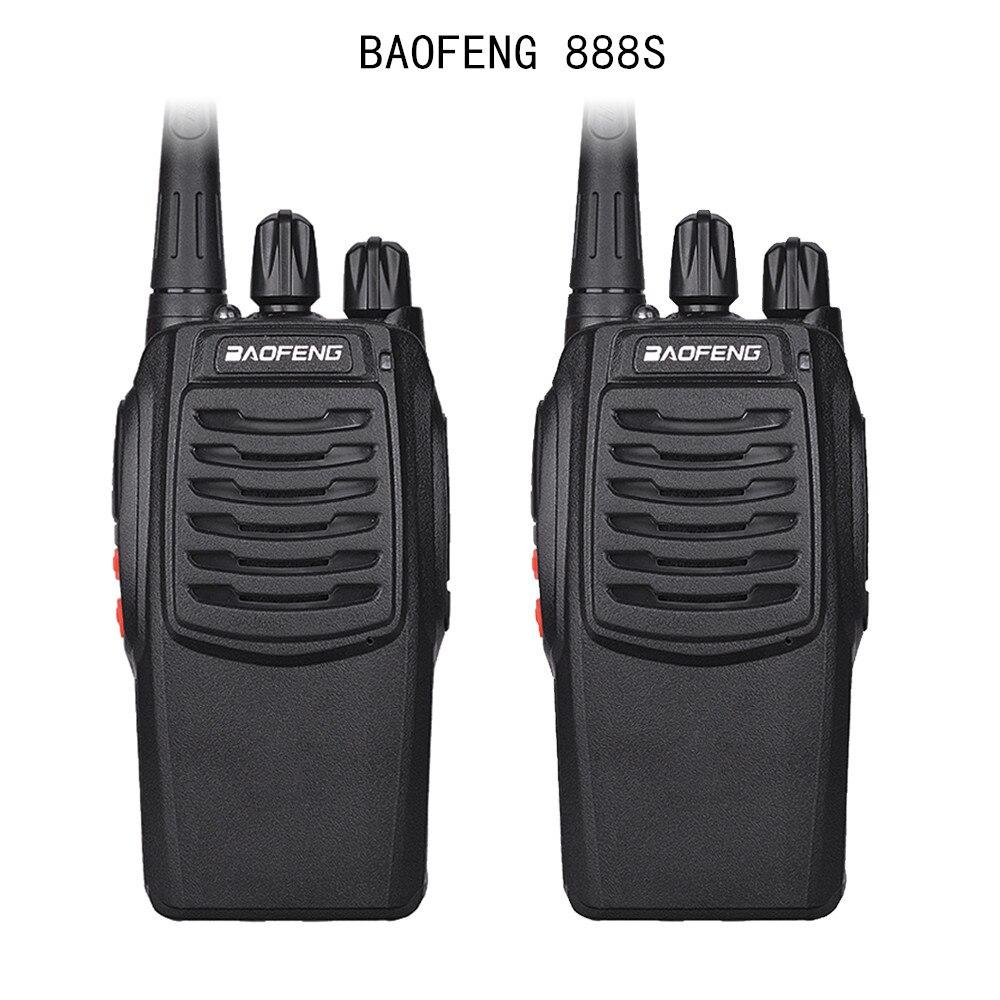 2Pcs Baofeng 888S BF-888S Walkie Talkie 5W Handheld Portable Two Way Radio UHF 400-470 MHz 16CH CB FM Ham Radio Transceiver