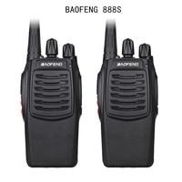 "2pcs baofeng bf 888s 2pcs Baofeng 888S BF-888S מכשיר הקשר 5W Handheld Portable שני הדרך רדיו UHF 400-470 מגהרץ 16CH CB FM Ham Radio מקמ""ש (1)"