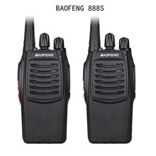2Pcs Baofeng 888S BF 888S Walkie Talkie 5W Handheld Portable Two Way Radio UHF 400 470 MHz 16CH CB FM Ham Radio Transceiver
