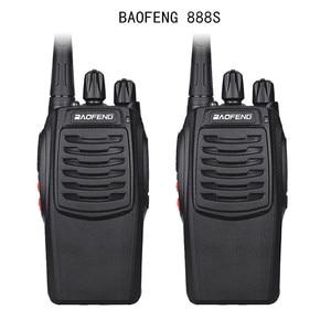 Image 1 - 2Pcs Baofeng 888S BF 888S Walkie Talkie 5W Handheld Portable Two Way Radio UHF 400 470 MHz 16CH CB FM Ham Radio Transceiver