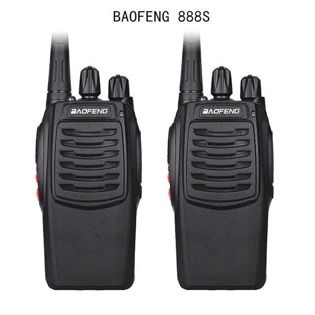 2Pcs Baofeng 888S BF 888S Walkie Talkie 5W Handheld Portable Two Way Radio UHF 400 470 MHz 16CH CB FM Ham Radio Transceiver