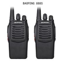 2Pcs Baofeng 888S BF 888S Walkie Talkie 5W Tenuto In Mano Portatile A Due Vie Radio UHF 400 470 MHz 16CH CB FM Ricetrasmettitore Radio di Prosciutto