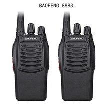 BF 888S 2Pcs Baofeng 888S Walkie Talkie 5W Handheld em Dois Sentidos Portátil Rádio UHF 400 470 MHz 16CH CB FM Presunto Rádio Transceptor