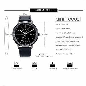 Image 5 - MINI FOCUS Mens Watches Top Brand Luxury Quartz Watch Men Calendar Bussiness Leather relogio masculino Waterproof reloj hombre