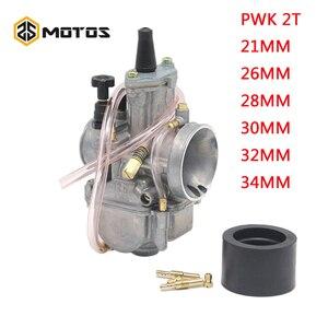 Image 1 - ZS MOTOS Motorcycle 2T Engine PWK Carburetor  2 T engine 21 24 26 28 30 32 34mm Carburador For Honda Yamaha Racing Motor ATV