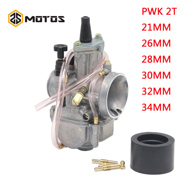 ZS MOTOS Motorcycle 2T Engine PWK Carburetor  2 T engine 21 24 26 28 30 32 34mm Carburador For Honda Yamaha Racing Motor ATV