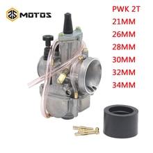 ZS MOTOS motosiklet 2 T motor PWK karbüratör 2 T motor 21 24 26 28 30 32 34mm Carburador honda Yamaha yarış Motor ATV