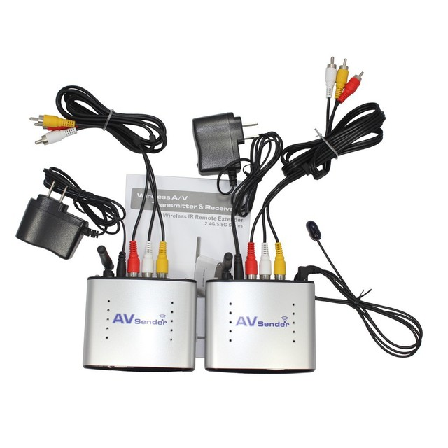 2.4GH150M sem fio AV transmissor e receptor de TV áudio vídeo transmissor receptor de sinal de TV 3 RCA PAT330