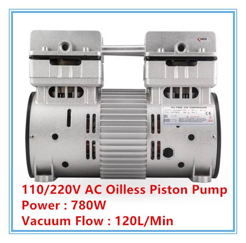 HYW-780 AC110/220 v 780 w AC de secagem pequena caixa de mini bomba de vácuo bomba de vácuo oil-free 120L/min de fluxo de vácuo