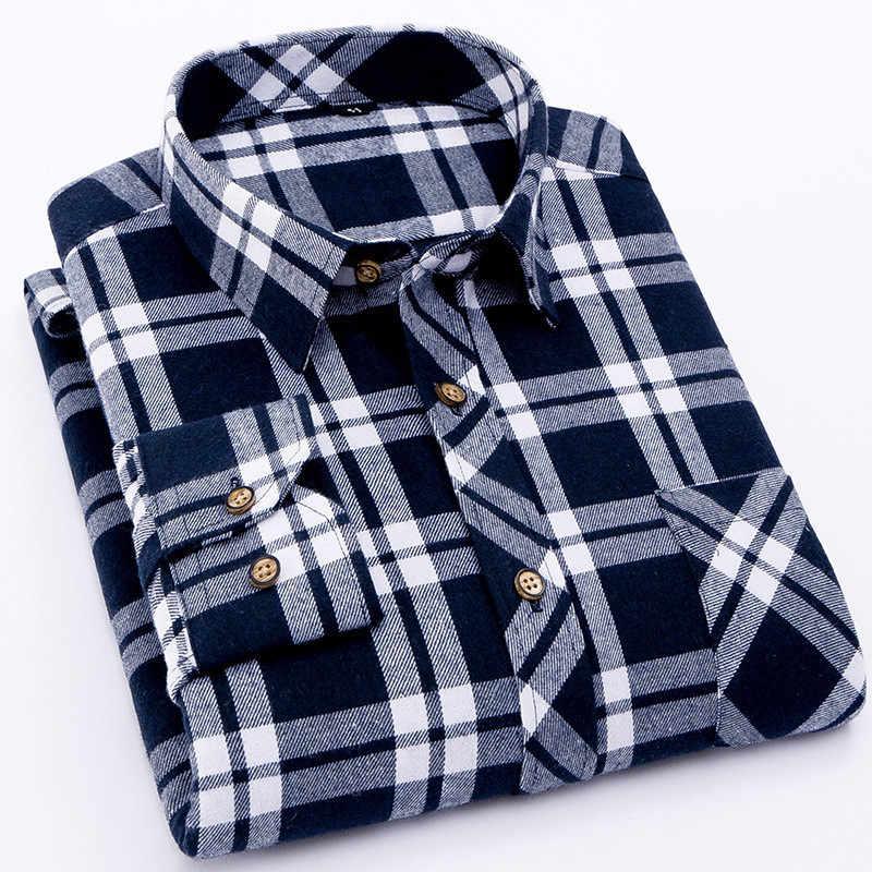 Фланель мужская клетчатая рубашка мода 2019 г. одежда мужская рубашка повседневное теплые мягкие рубашки с длинными рукавами camiseta masculina chemise homme