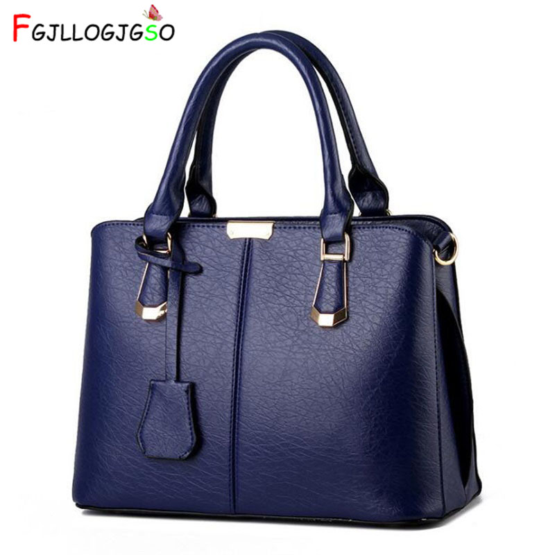 FGJLLOGJGSO Fashion Trend Soft tote messenger Bag Women Handbag PU Leather Shoulder Bag casual Crossbody Bag Female Sac A Main 2018 fashion women shoulder mochila daily women tote all match messenger bag high capacity soft casual pu leather bolsa feminina